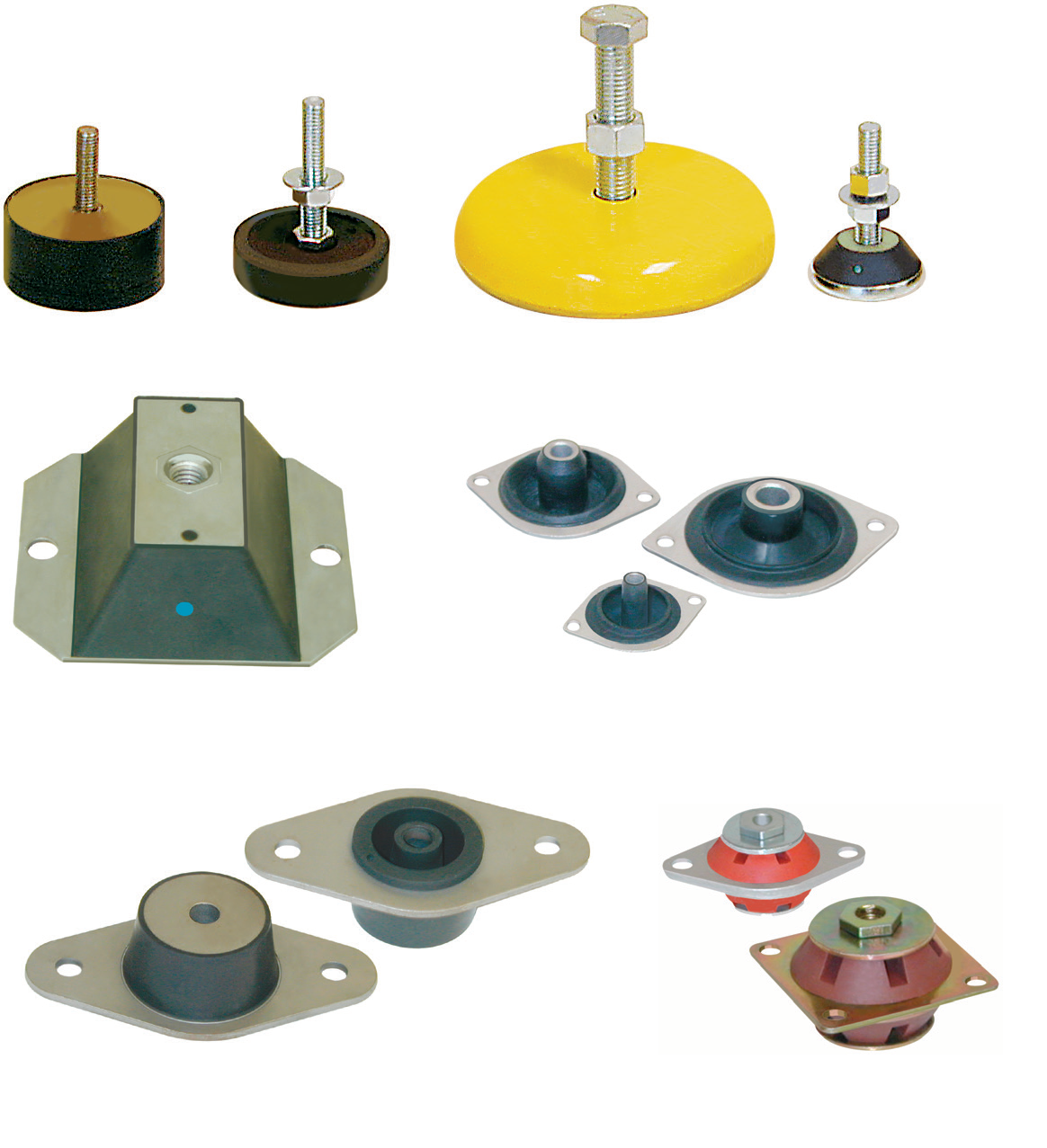 Mounts and Levelers For Vibration and Shock Isolation