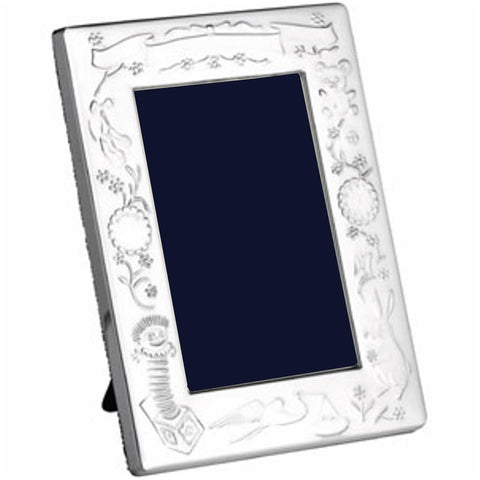 Silver Plate Baby Photo Frame - Portrait
