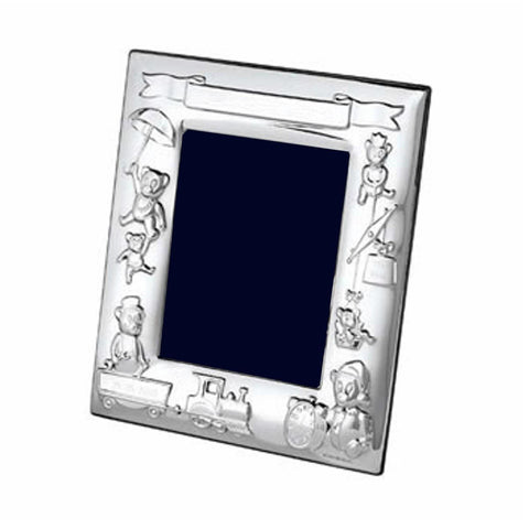 Silver Plate Baby Photo Frame