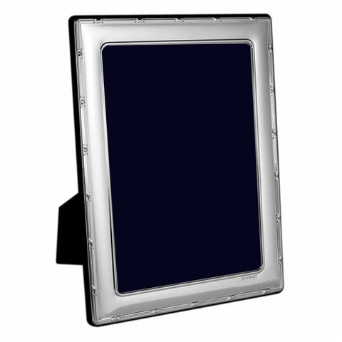 Sterling Silver Photo Frame - Hallmarked Ribbon & Reed