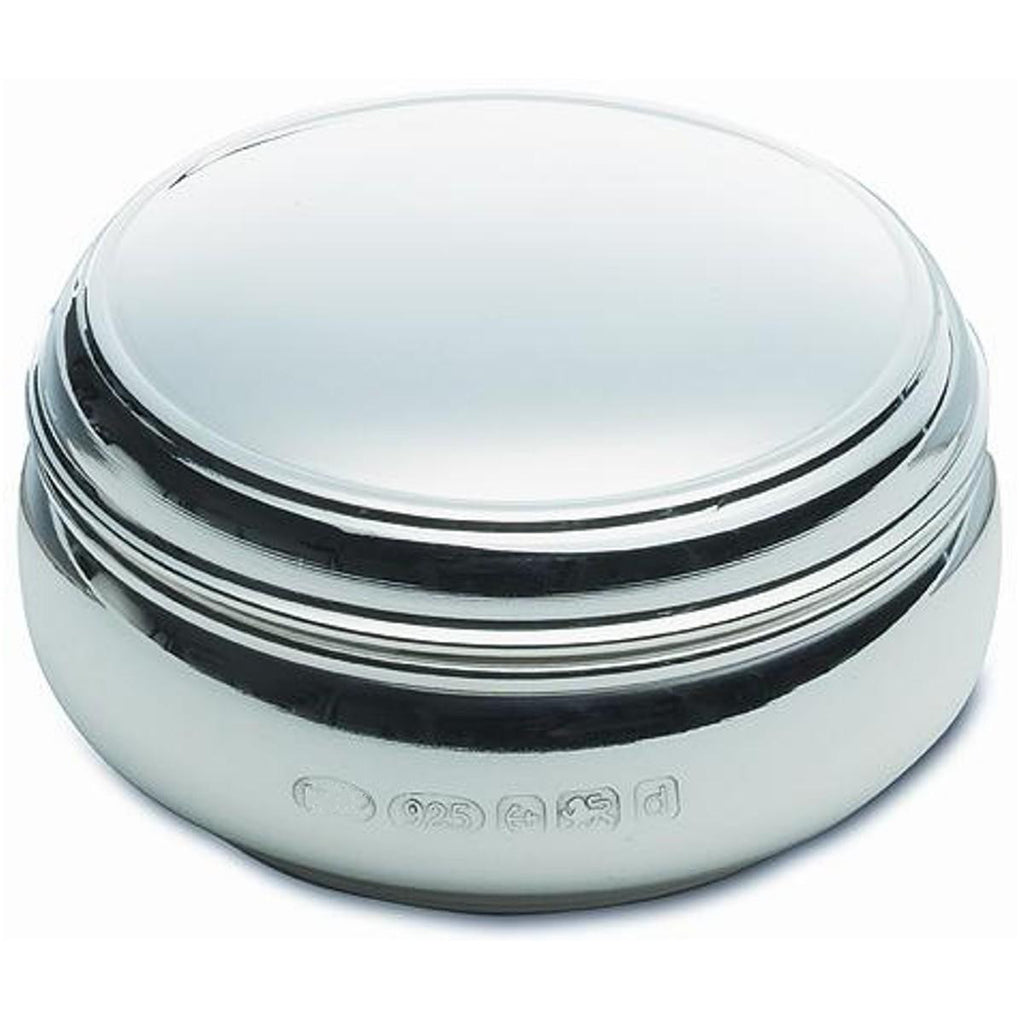 Sterling Silver Pill Box Round Shape - Plain