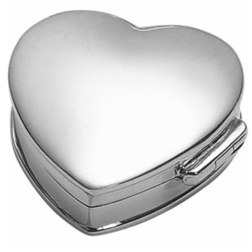 925 Sterling Silver Pill Box - Heart Shaped