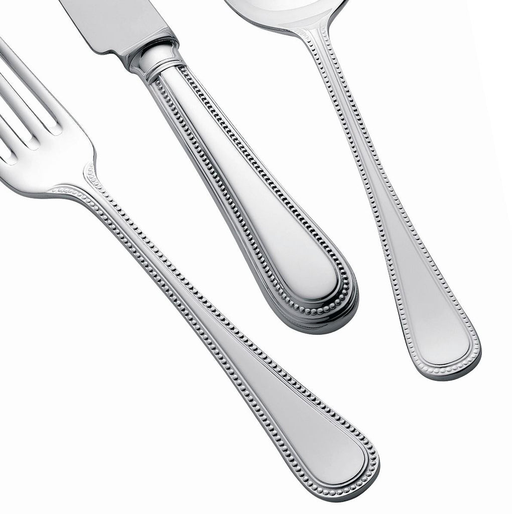 Silver Plated Cutlery Set - 124 Piece - Bead Design