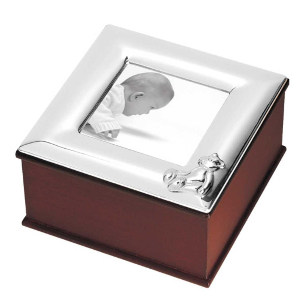 Sterling Silver & Wood Child's Memory Box