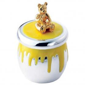 Silver & Enamel Bear Tooth Fairy Keepsake Box