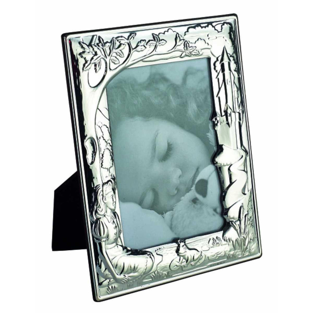 Sterling Silver Baby Photo Frame - Forest