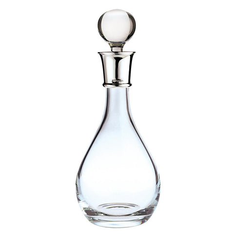 Crystal Wine decanter with Sterling Silver collar