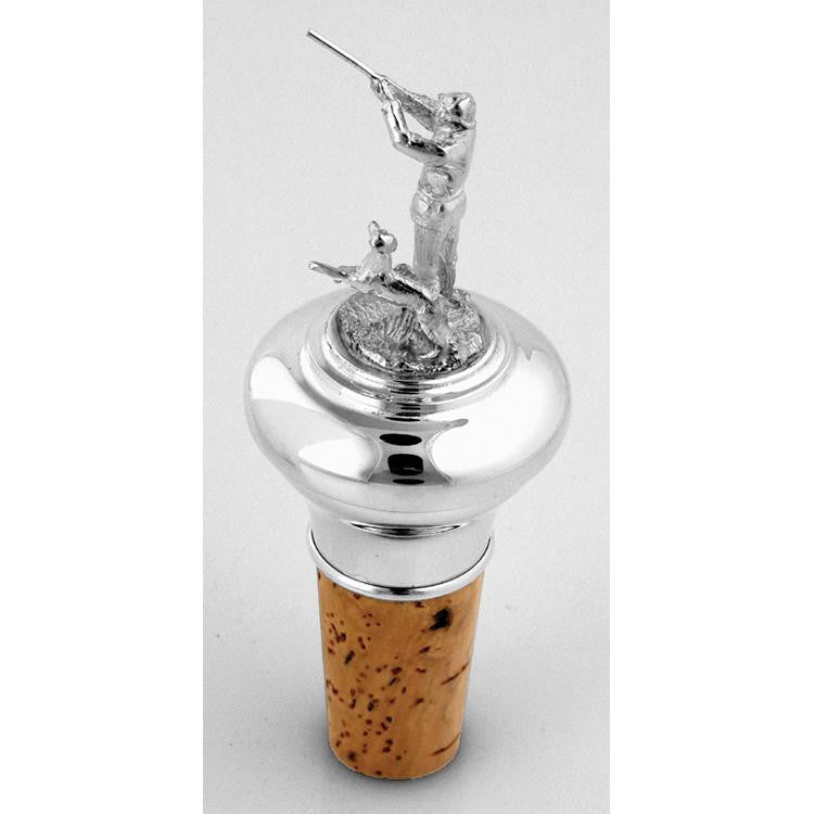 Sterling Silver Bottle Stopper - Hunter