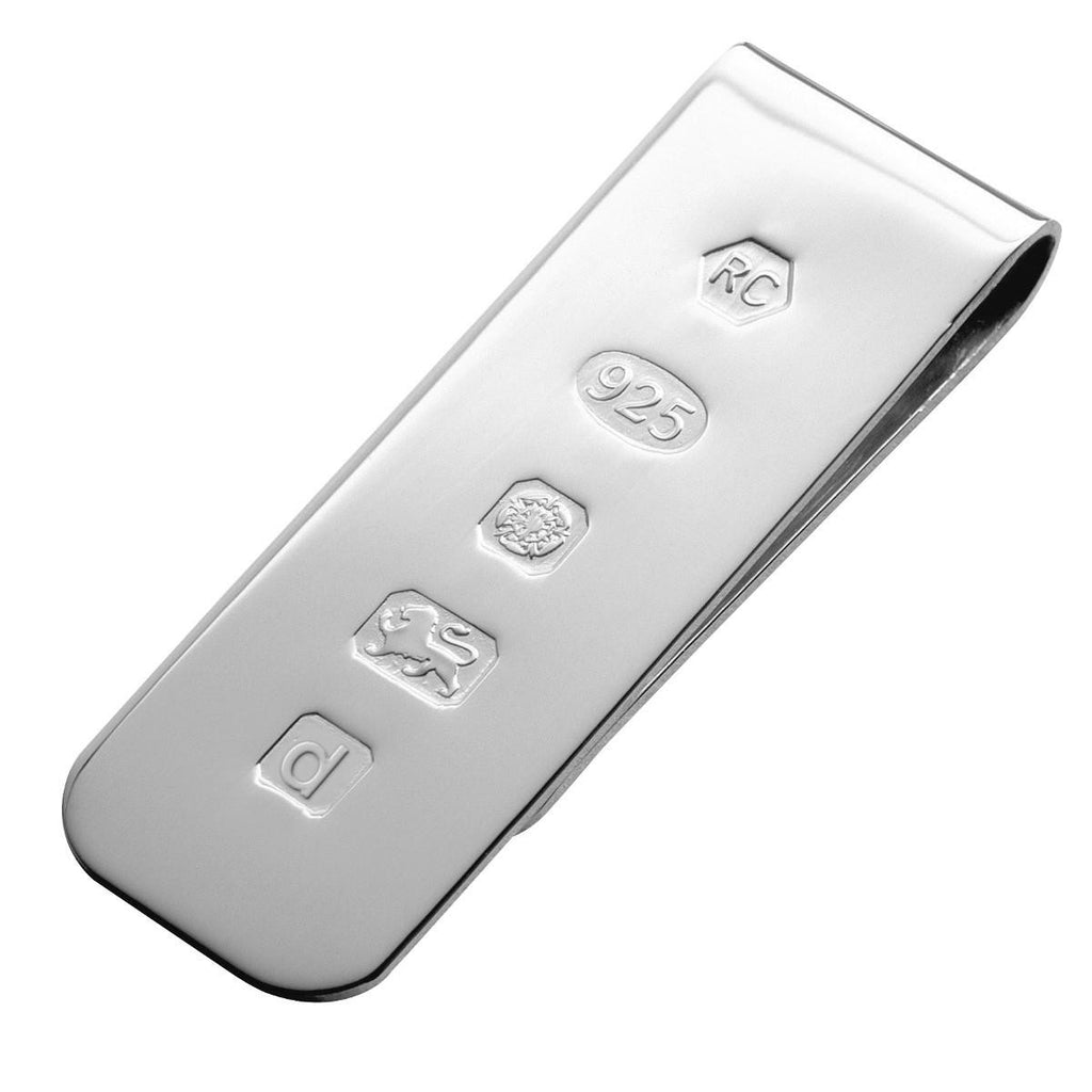 925 Sterling Silver Money Clip - Feature Hallmark
