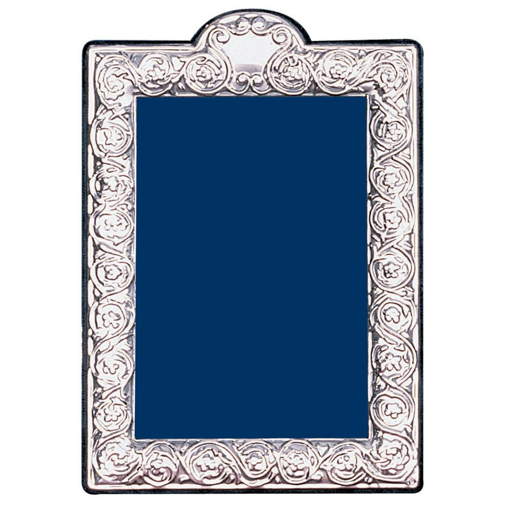 Sterling Silver Portrait Photo Frame - Scroll Style
