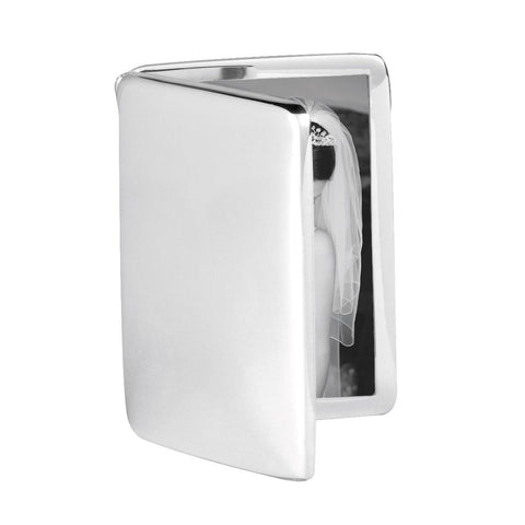 Modern Sterling Silver Photo Frame - Double Folding