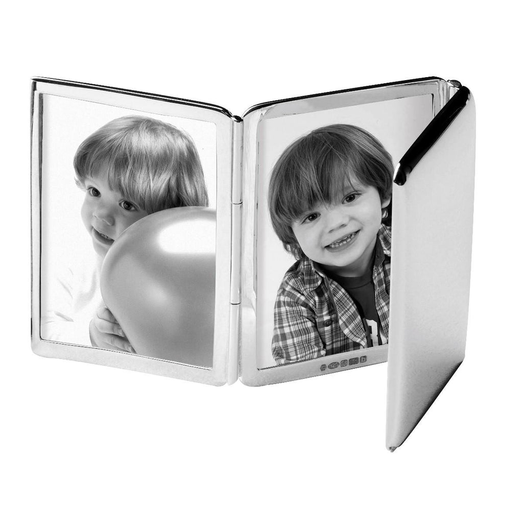 Modern Sterling Silver Photo Frame - Tri Folding