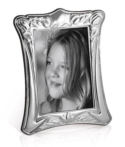 Sterling Silver Portrait Photo Frame - Art Nouveau Curved