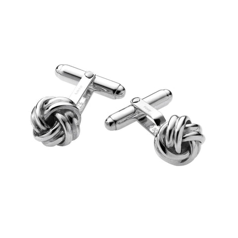 Sterling Silver Cufflinks - Knot Design