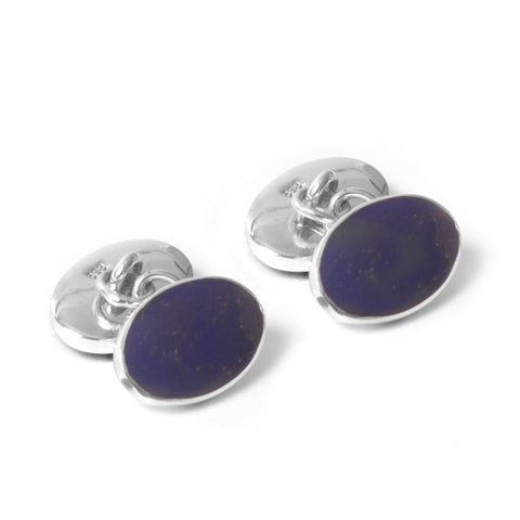 Sterling Silver Cufflinks - Lapis