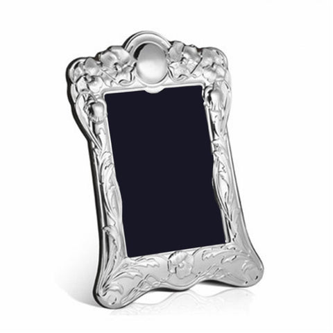 Sterling Silver Portrait Photo Frame - Art Nouveau