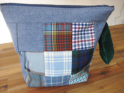 annlemon_art - Project Bag - Blue Tartan
