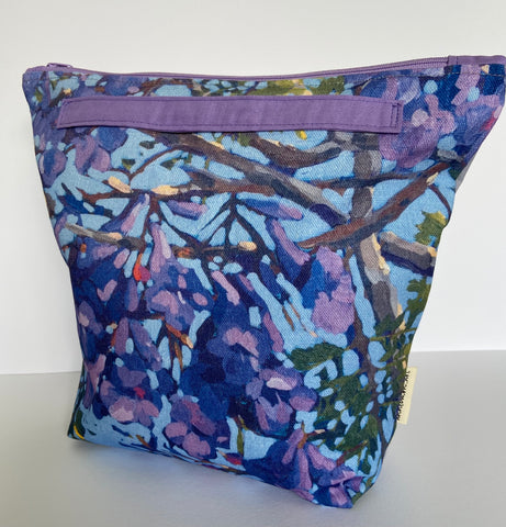 annlemon_art - Project Bag - Jacaranda 'Grab Pouch'