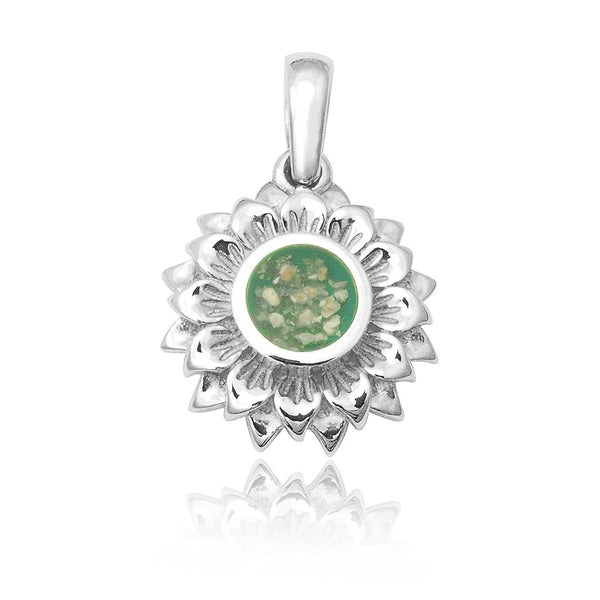 Memorial daisy/flower pendant
