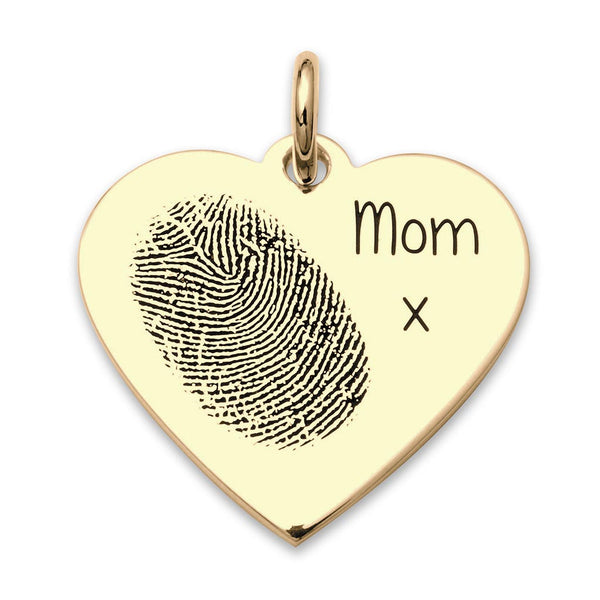 Heart shape fingerprint pendant