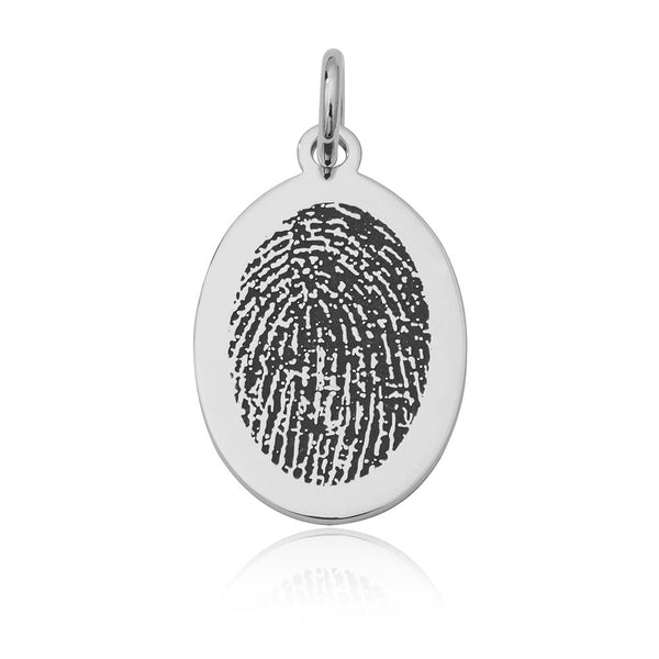 M5 Oval Fingerprint Pendant