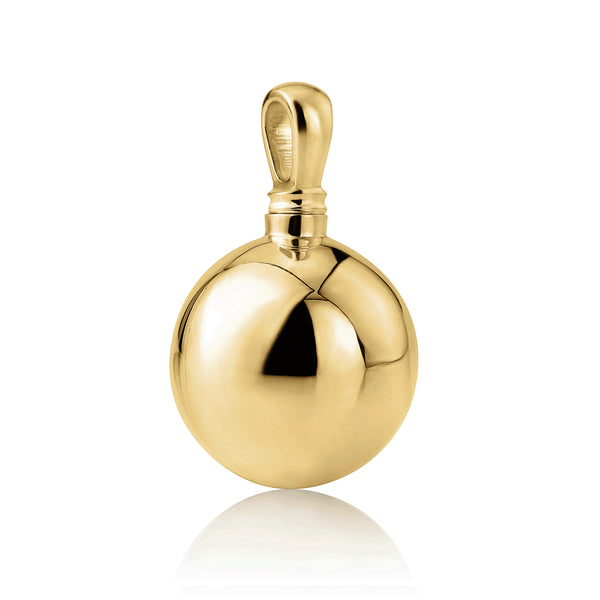 9ct Yellow Gold Memorial Ball Pendant (Medium)