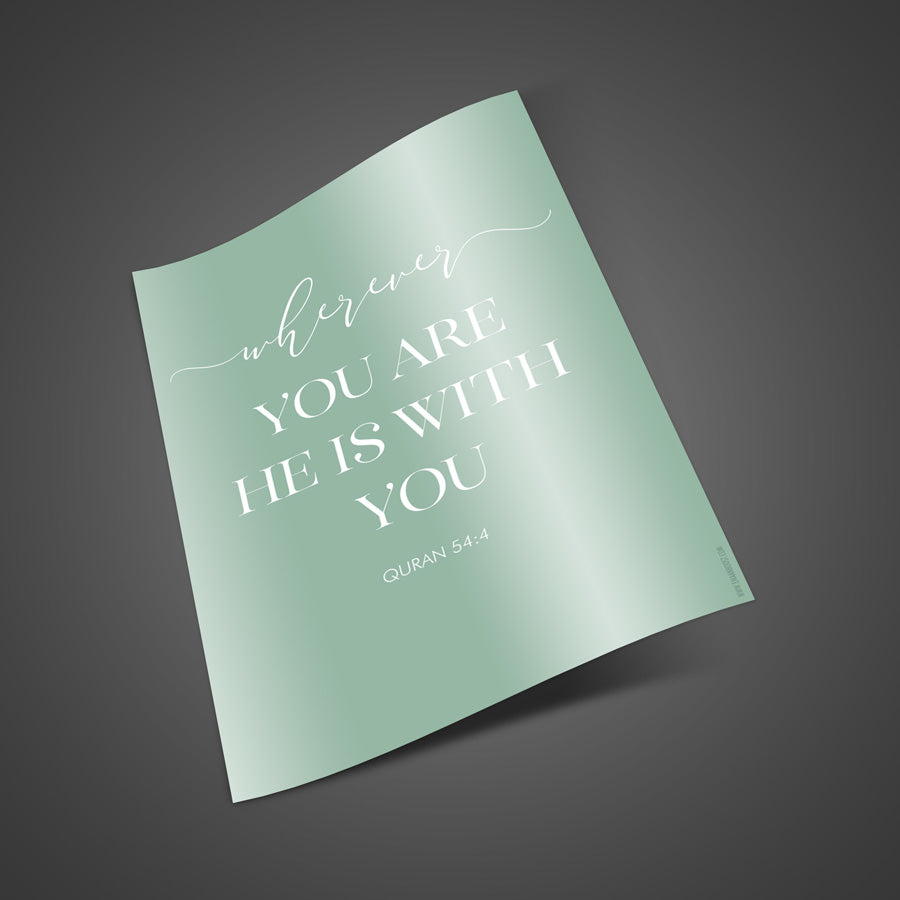 He is with you - Print