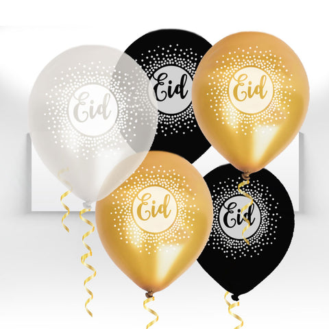 Gold Glam Confetti Balloon Collection - Helium