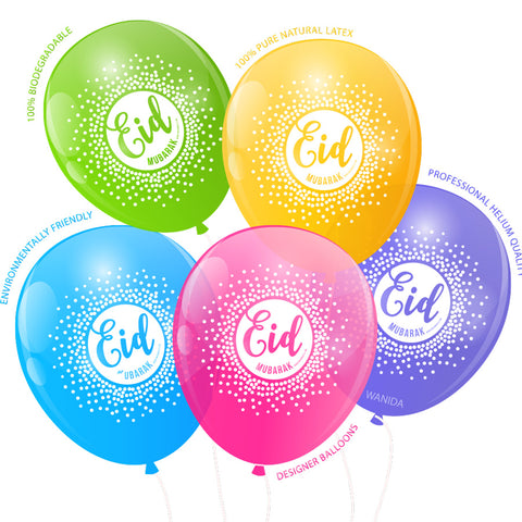 EPIC EID Confetti Balloons - Helium & Stick use