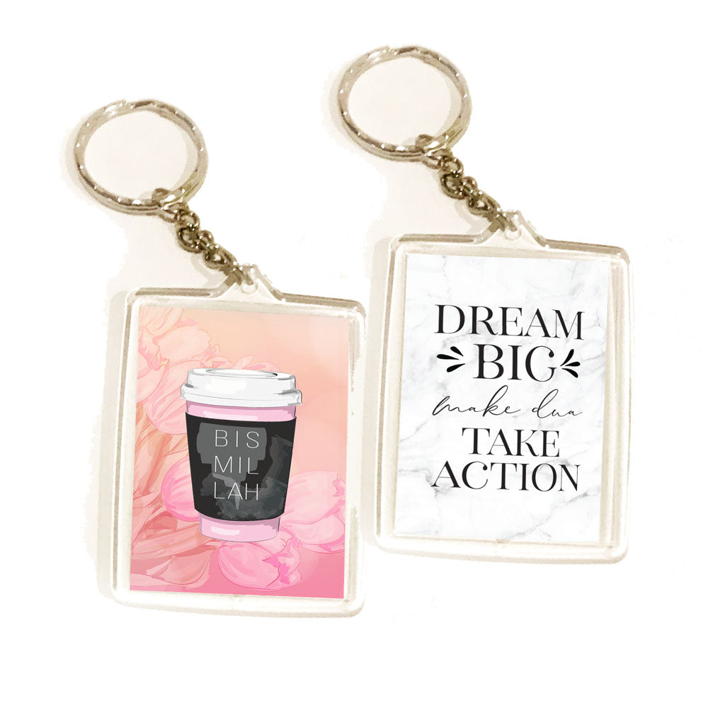 Bismillah (Coffee cup) - Double sided Key ring