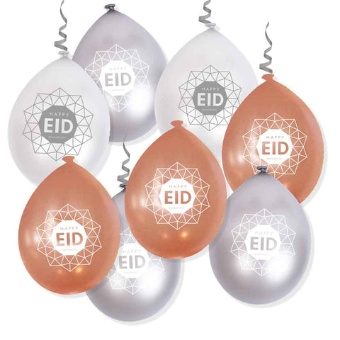 Rose pearl + Silver + Pearl - EID Geometric Balloons - Air use