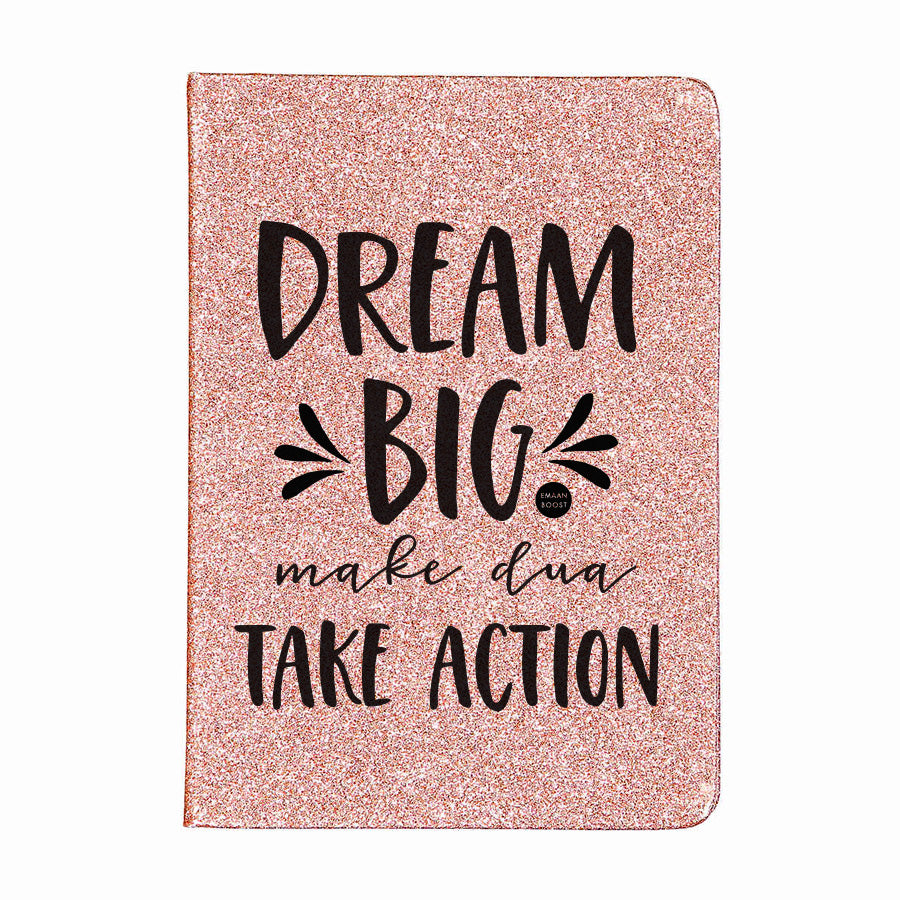 Dream Big - Rose Glitter Plain Journal