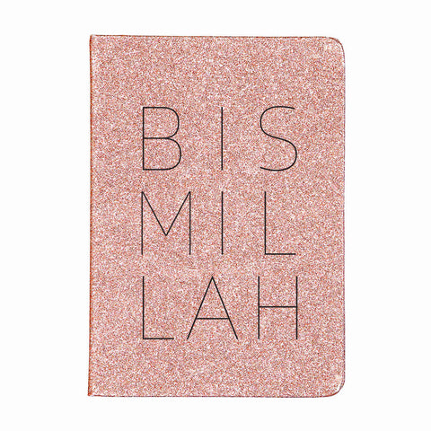Bismillah - Rose Glitter Plain Journal