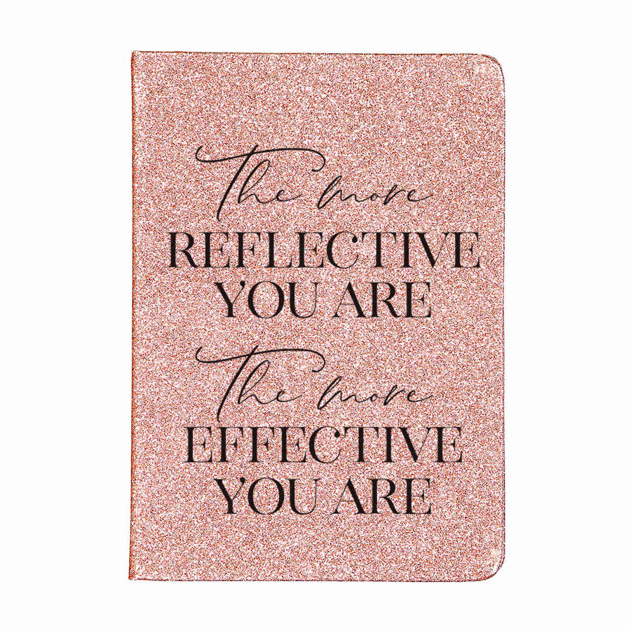 Reflection - Rose Glitter Plain Journal