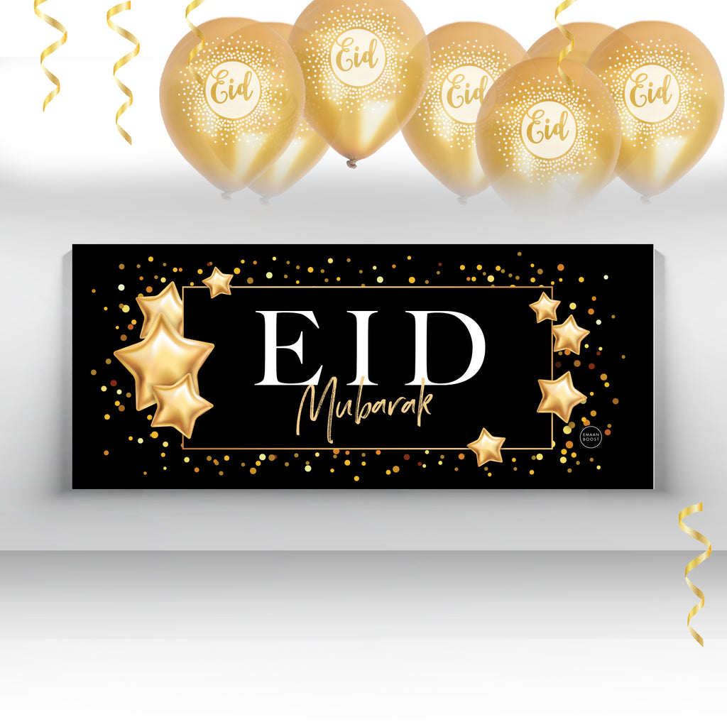 Gold Glam Eid Banners