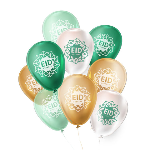 Eid Mubarak Geo - Golden Garden Collection - Helium