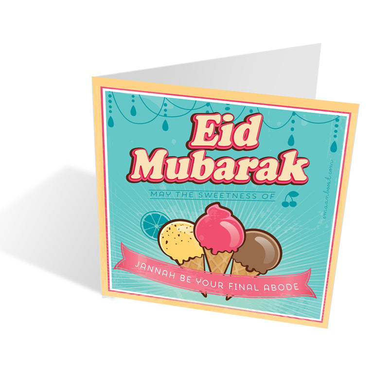 Sweet Retro Eid Card - Icecream Joy + matching recipe