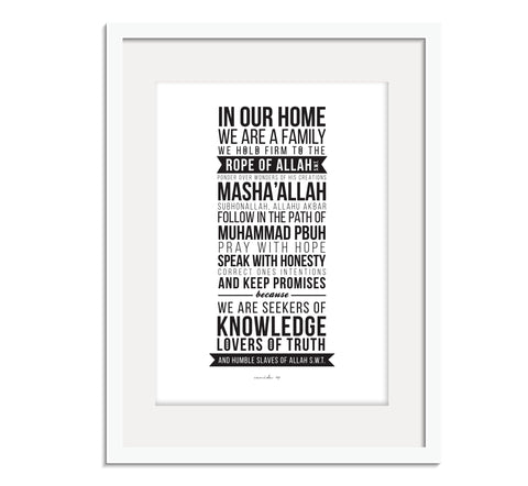 "Family Goals ""In our home"" Prints"