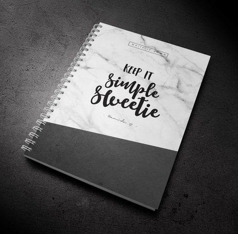 MARBLE - Keep It Simple Sweetie - Notebook