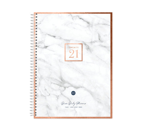 Marble Dreams - 2021 Deen Daily Planner (2 sizes)