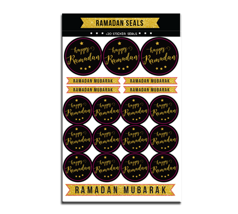 Happy Ramadan seals - Golden Collection