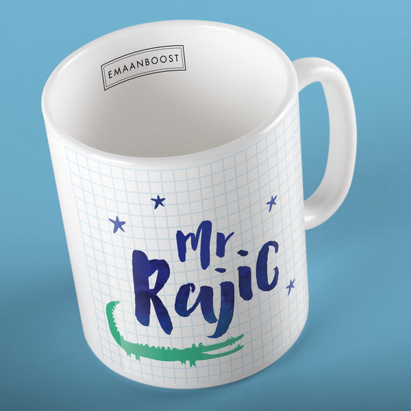 Teachers personalised Mug (blue)