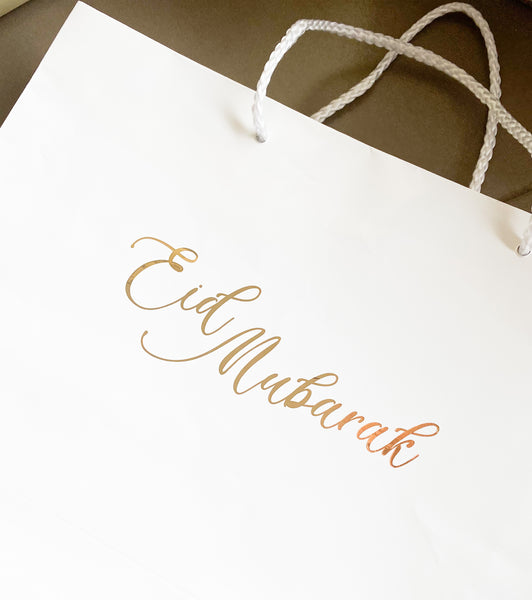 Eid Mubarak bag included in hand delivery option only