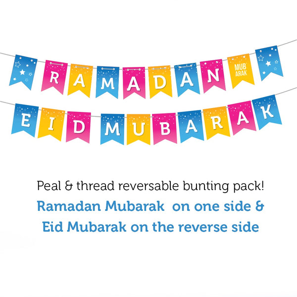 EPIC Colour Reversible Ramadan <+> EID Mubarak Bunting