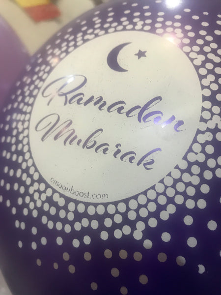 Ramadan Mubarak Purple metallic - Helium