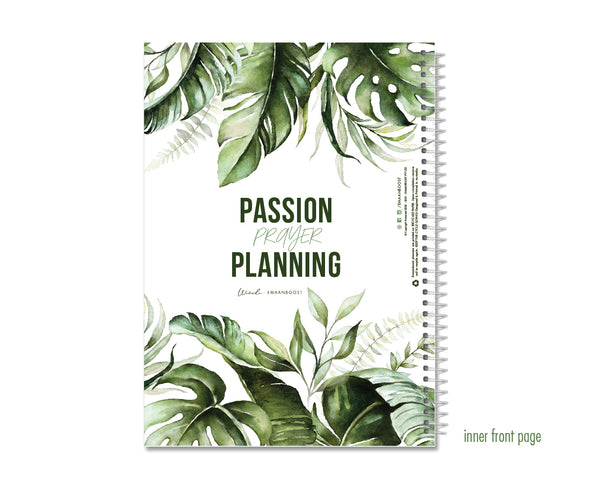 Geometric Charcoal - (+ gloss varnish) 2021 Deen Daily Planner