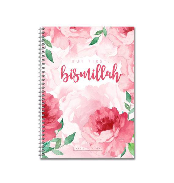 But First, Bismillah - Blush Notebook