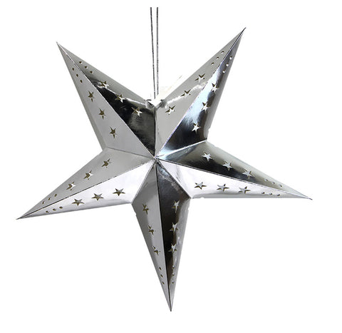 Ramadan/EID Nights - Metallic Silver Star Lantern (Small)