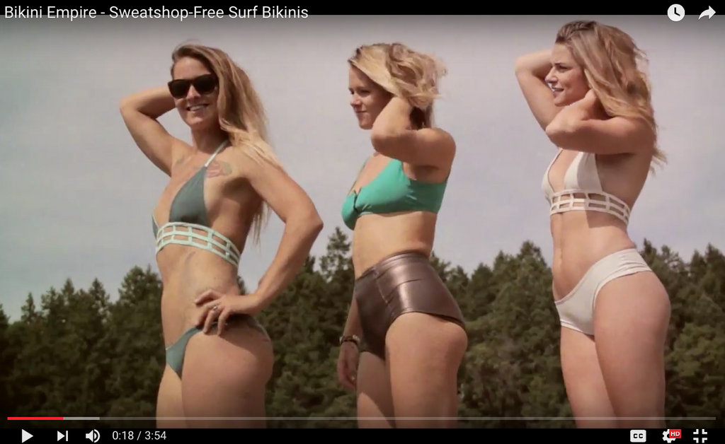 BIKINI EMPIRE KICKSTARTER VIDEO - SWEATSHOP FREE BIKINIS MADE IN CANADA