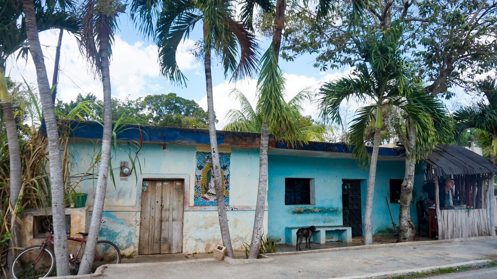 colorful houses in tulum